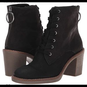 Lucky Brand Leather Borelis black combat booties 6